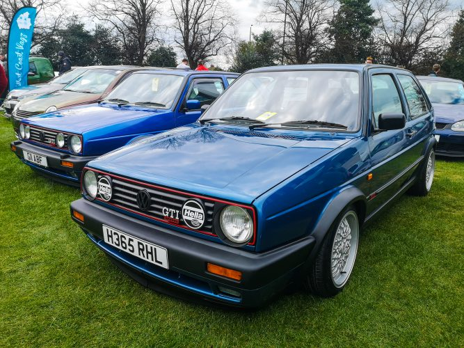 Bright Blue Metallic MK2 Golf