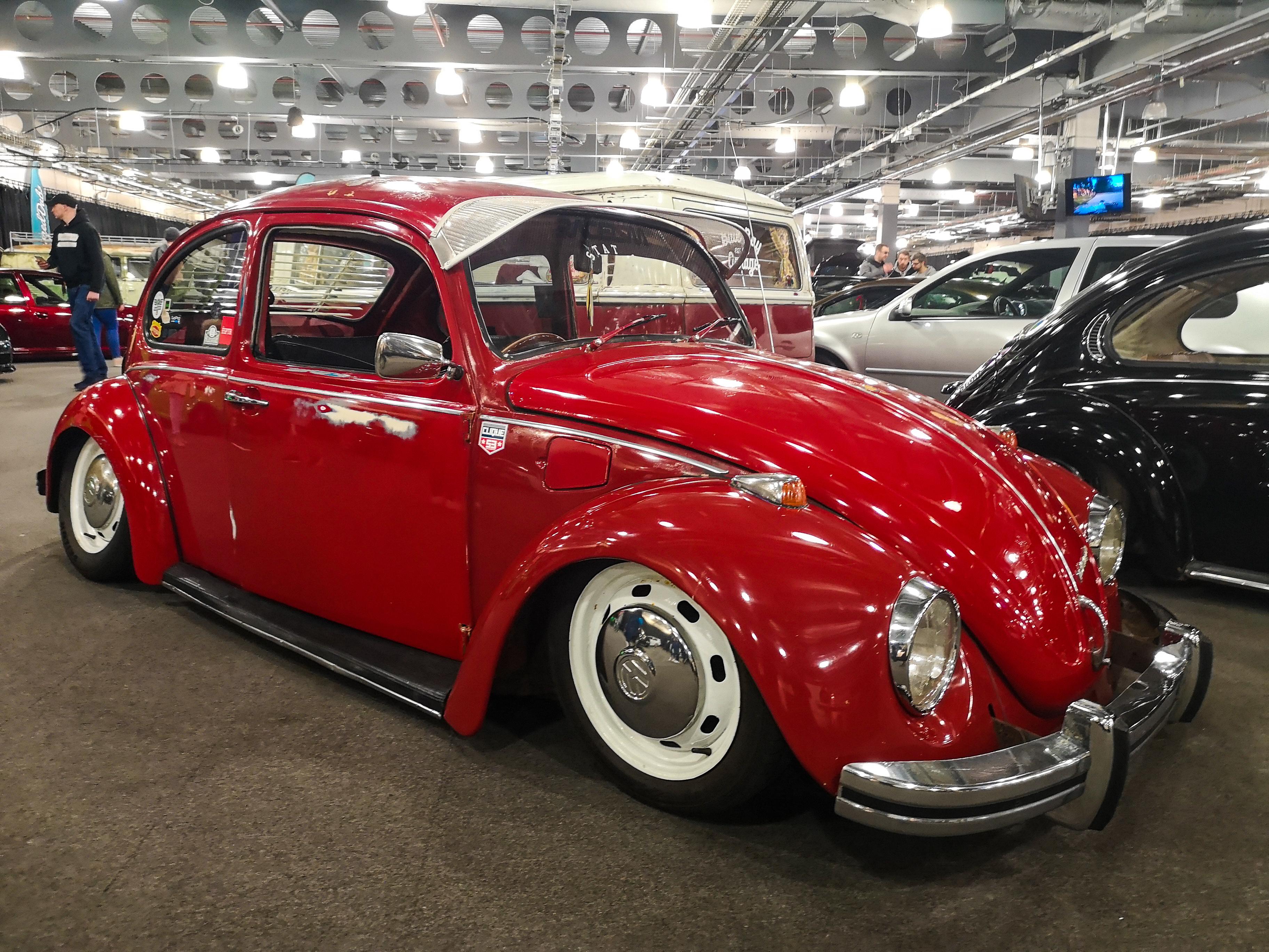 Red VW Beetle Air Cooled Cali Look