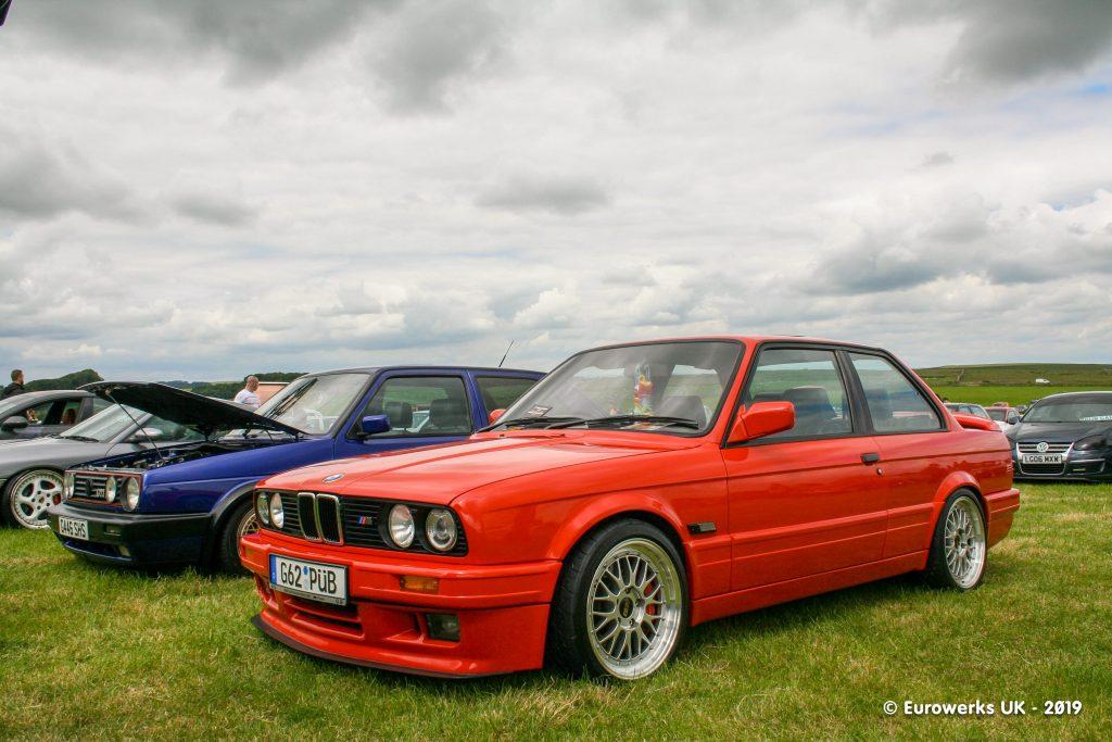 Red BMW E30