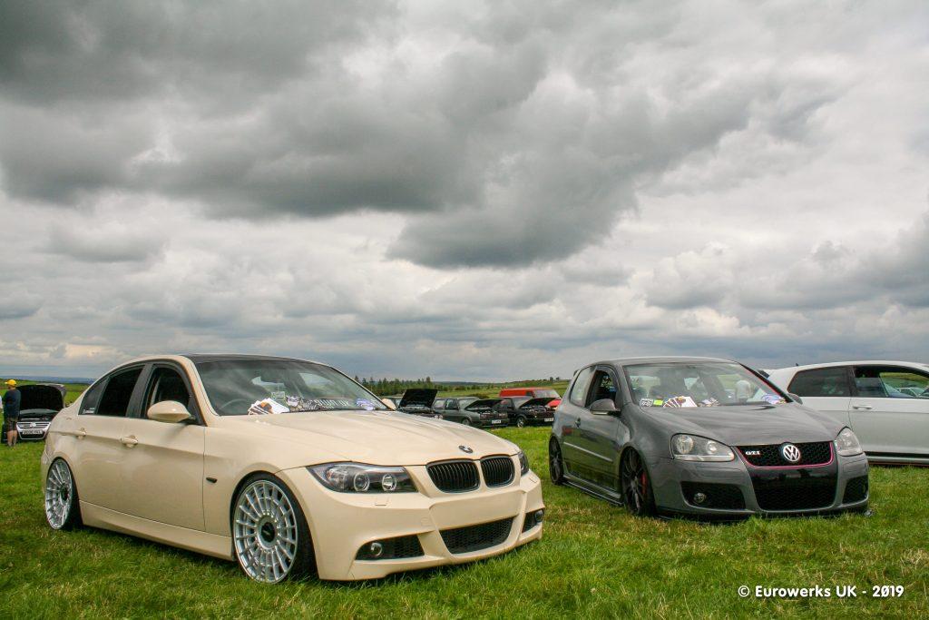 BMW E90 Rotaform wheels with a grey MK5 GTI Golf