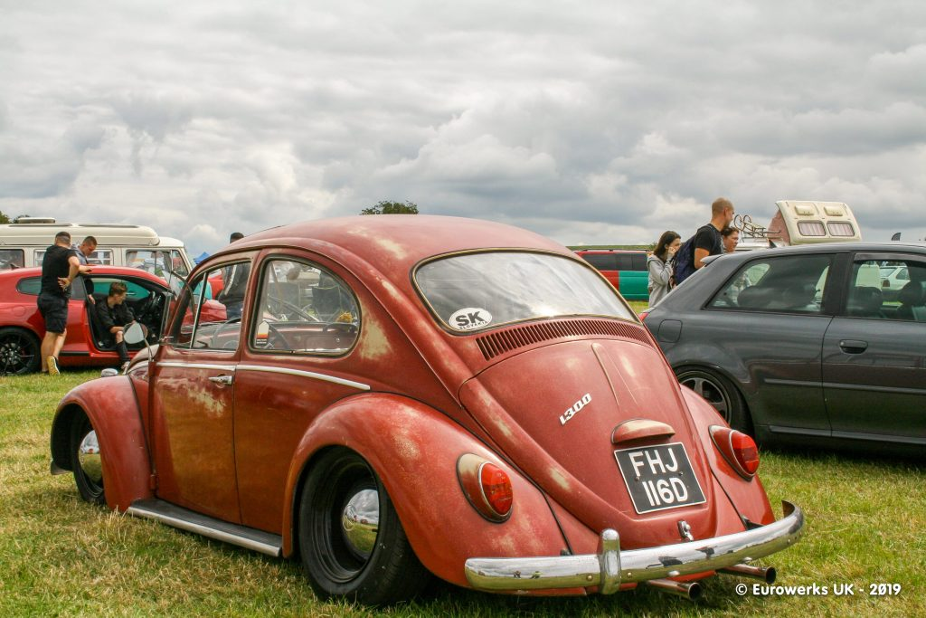 Red Air-cooled Beetle Slammed