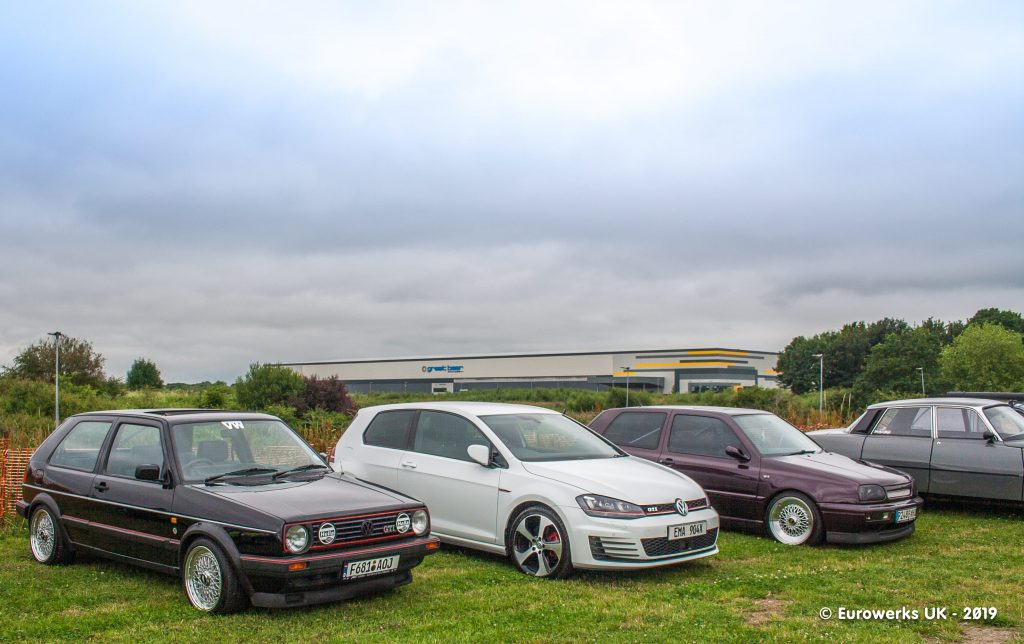 3 VW Golfs Cars & Coffee July 2019