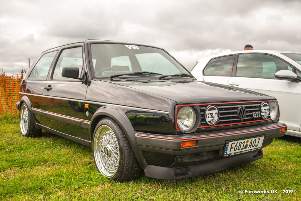 Black MK2 Golf from Julys 2019 Cars and Coffee meet