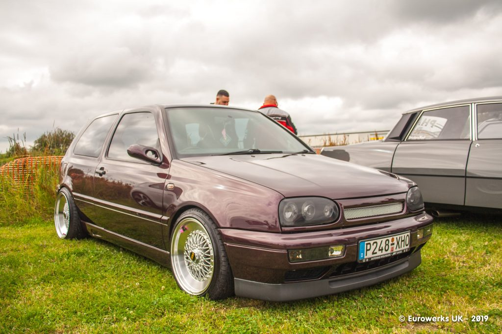 A MK3 Golf from July 2019 Cars and Coffee meet