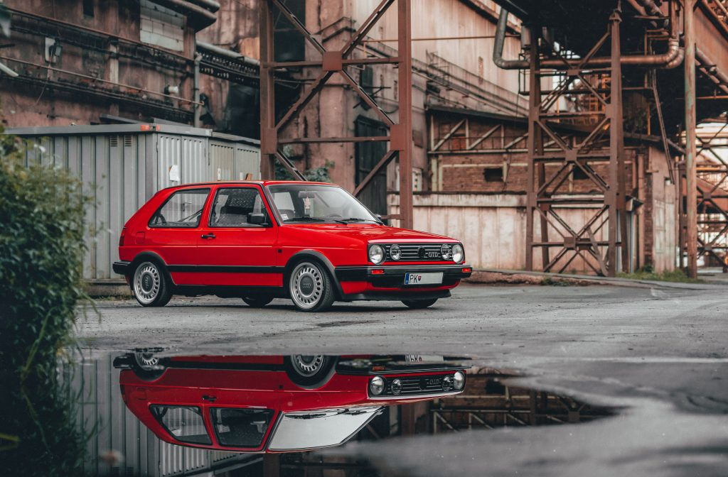 Autumn & Winter Driving. MK2 Golf winter steel wheels