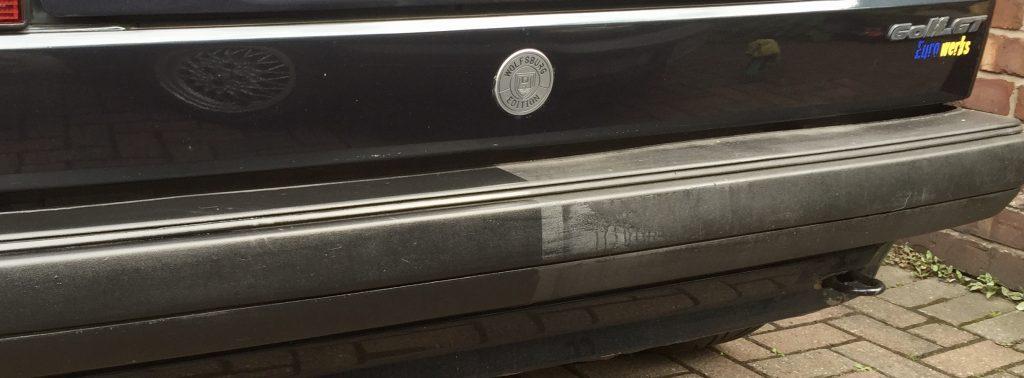 Auto Finesse Revive 50:50 on Bumper
