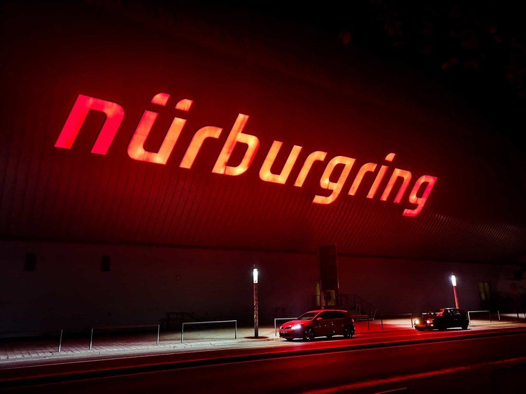 Nürburgring sign and golfs