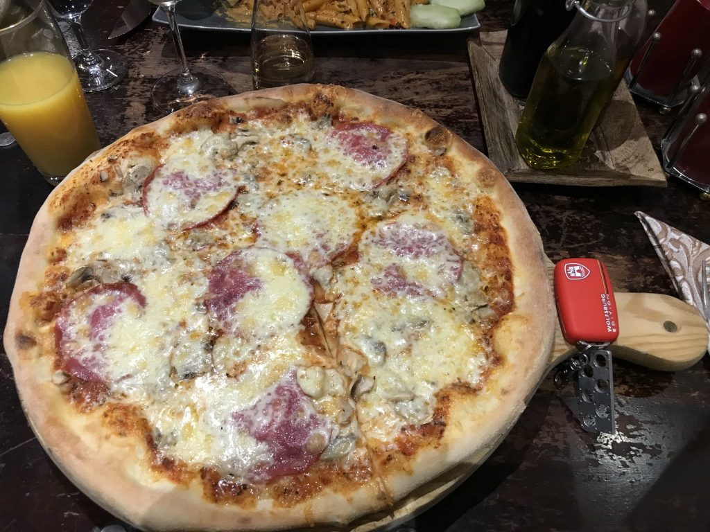 Pizza from Pinocchios Pizzeria Nurburgring
